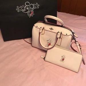 Coach Disney X Mickey Bennett purse and wallet